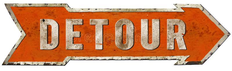 detour-road-sign-vintage-arrow-metal-rustic-old-antique-highway-orange-retro-106825810